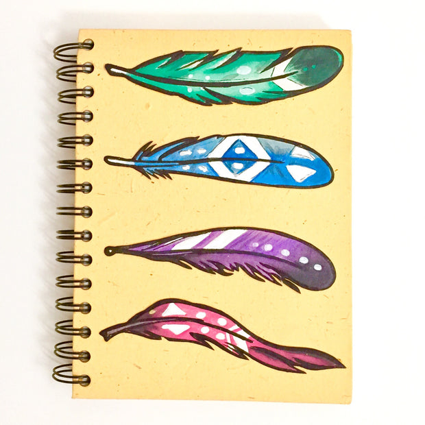 Mr. Ellie Pooh Feathers Sketch Large Notebook Journal