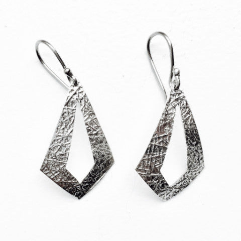 Fair Trade and Handmade Textura Diamante Earrings