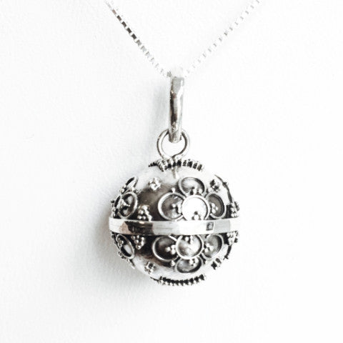 Sterling silver dream ball pendant necklace b zee bee market llc sterling silver dream ball pendant necklace b aloadofball Images