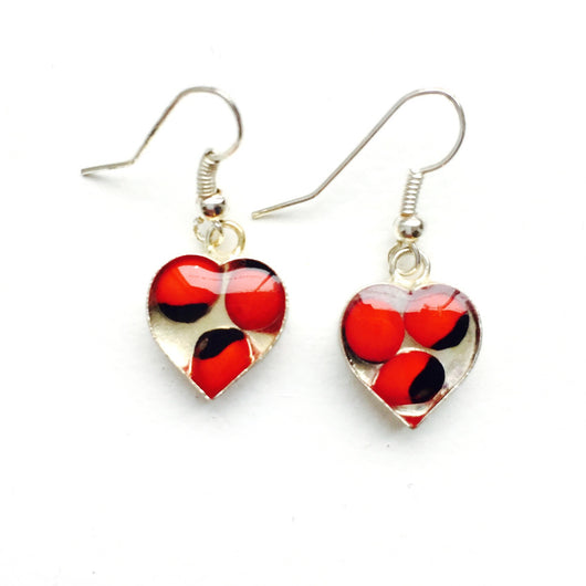 Huayruro Heart Earrings
