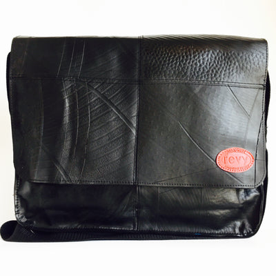 Recycled Rubber Tire Tube Messenger Bag