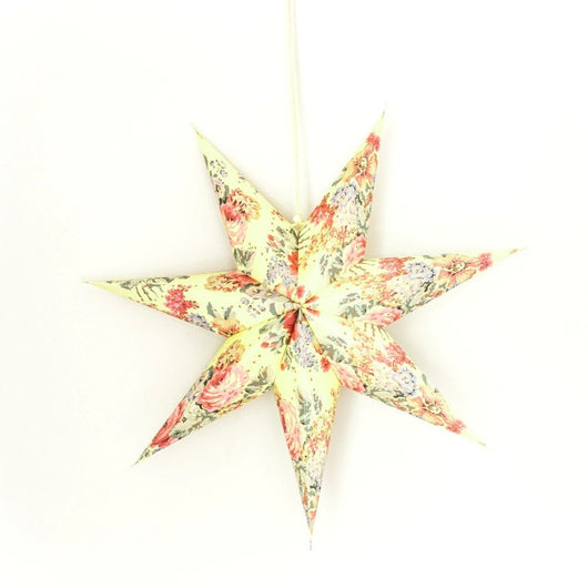 Recycled Paper Star Lantern - Pastel Floral