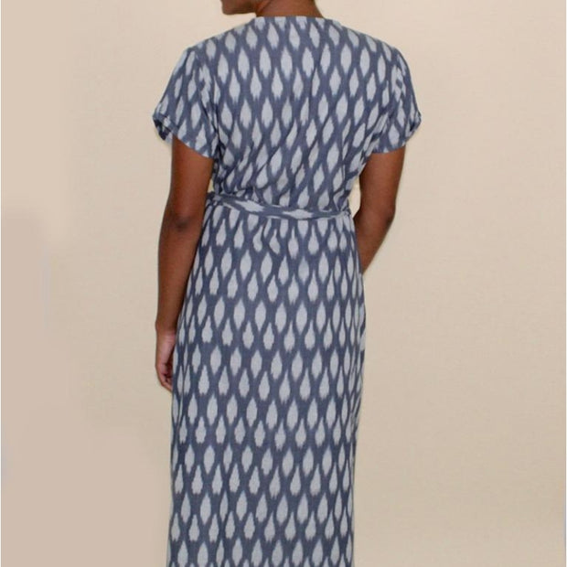 Ikat Graycie Wrap Dress backview