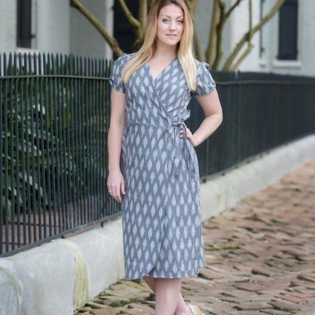 Ikat Graycie Wrap Dress lifestyle