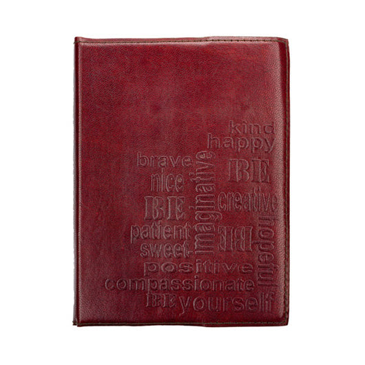 Be Yourself Embossed Leather Journal 5 inches X 7 inches