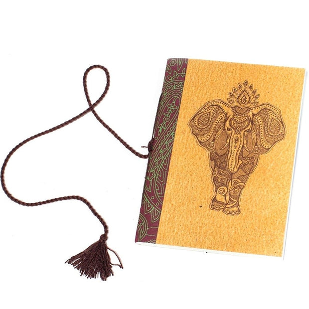 Jaipur Elephant Journal with cotton tie