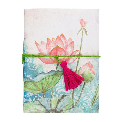 Saraswati Lotus Recycled Cotton Paper Journal