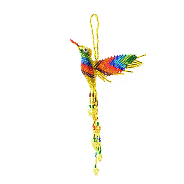 Large Hummingbird Beaded Ornament