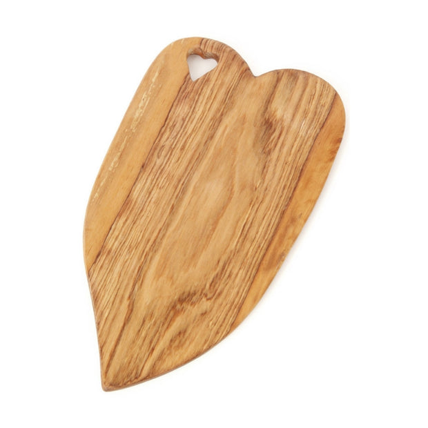 Hand-carved Olive Wood Heart of Hearts Cheese Board