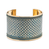 Art Deco Scallop Brass Cuff