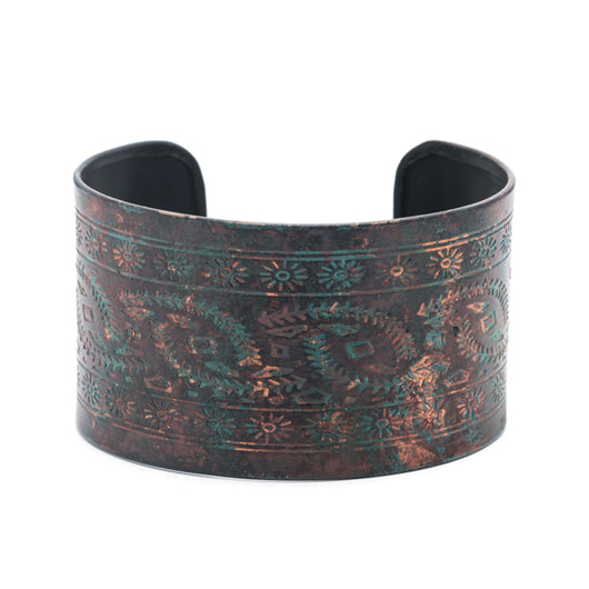 Kali Cuff cuff with a copper and dark teal patina