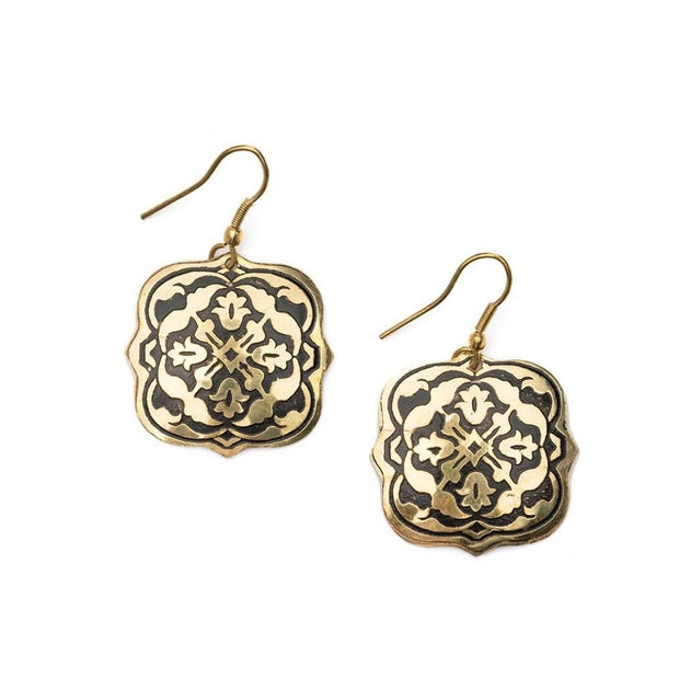 Arabesque Brass Earrings