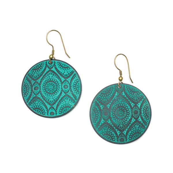 Devika Ajna Disk Earrings
