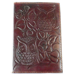 Night Owl Embossed Leather Journal