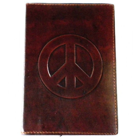 Peace Embossed Leather Journal