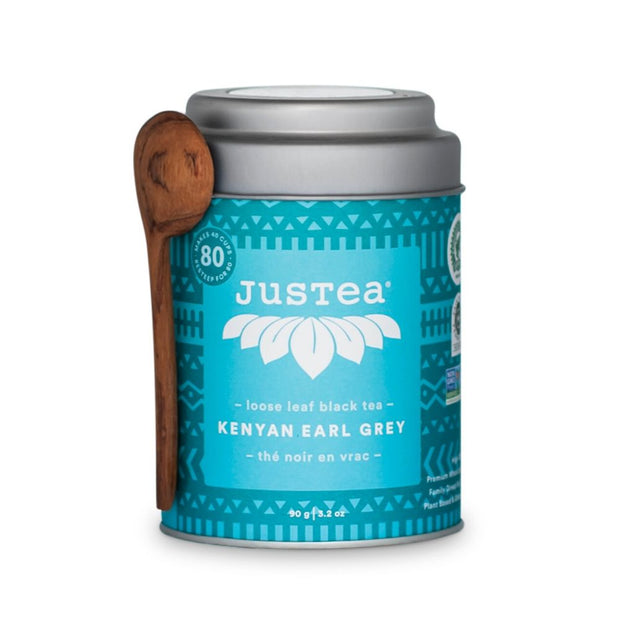 JustTea Loose Leaf Black Tea Tin - Kenyan Earl Grey