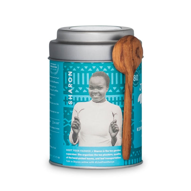 JustTea Loose Leaf Black Tea Tin - Kenyan Earl Grey producer