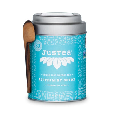JusTea Loose Leaf Herbal Tea Tin - Peppermint Detox
