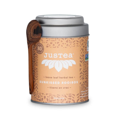 JustTea Loose Leaf Herbal Decaf Tea Tin - Sunkissed Rooibos
