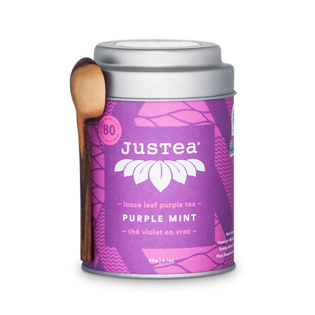JustTea Loose Leaf Purple Tea Tin - Purple Mint
