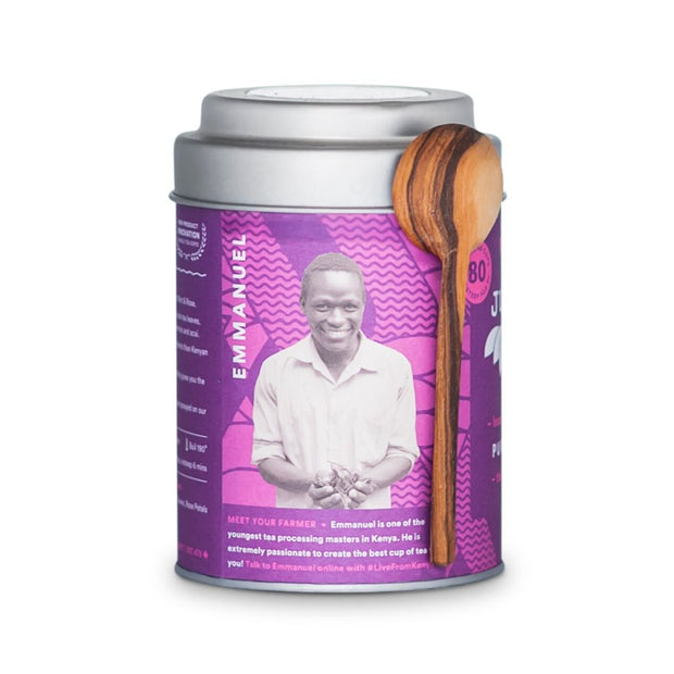 JustTea Loose Leaf Purple Tea Tin - Purple Mint producer