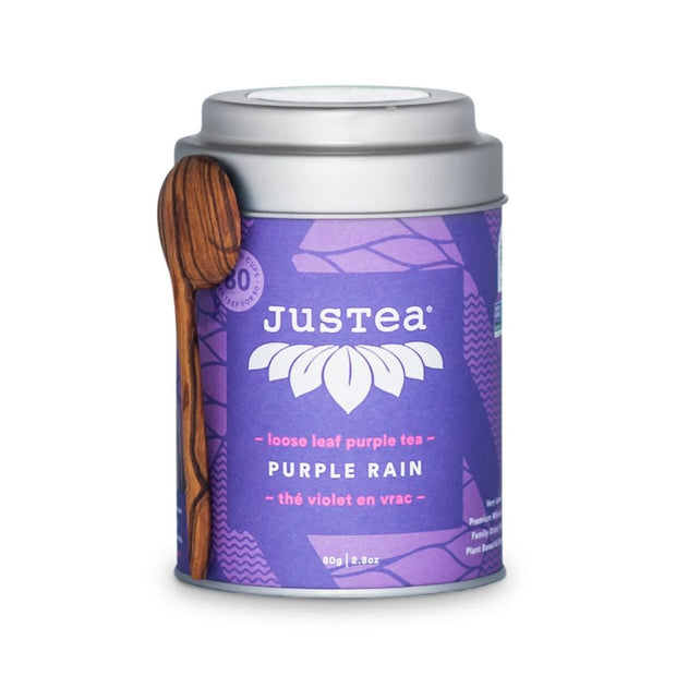 JustTea Loose Leaf Purple Tea Tin - Purple Rain