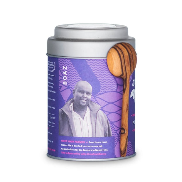 JustTea Loose Leaf Purple Tea Tin - Purple Rain producer
