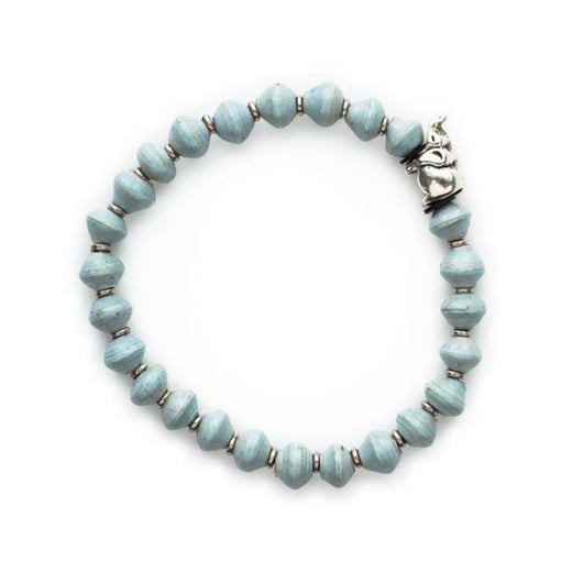 Stretch Paper Bead Bracelet - Elephant