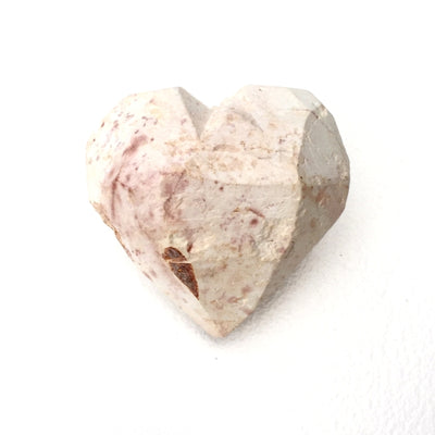 Work in Progress Natural Soapstone Heart