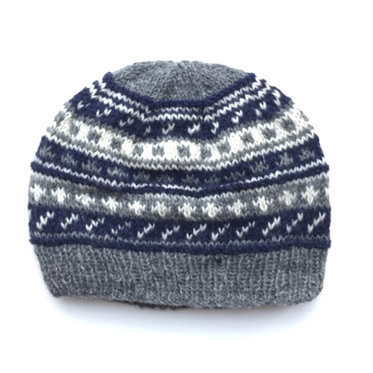 KI-C-PHB Wool High Patternl Knit Hat