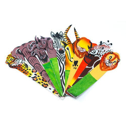 Assorted hand-painted African animal leather bookmark