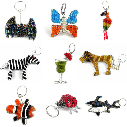 Assorted Beaded Key Ring