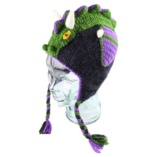 Andes Gifts Kids Alpaca Blend Adventure Hat - Dragon