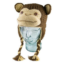 Andes Gifts Kids Alpaca Blend Animal Hat - Monkey