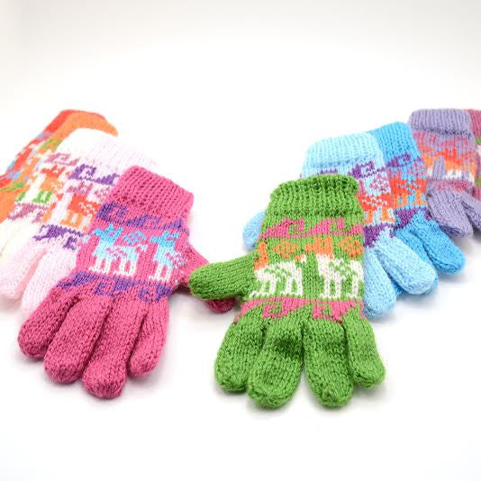 Kids Alpaca and Acrylic Blend Gloves