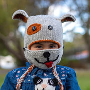 Kids Hand-knit Hat with Face Mask Set - Dog lifestyle