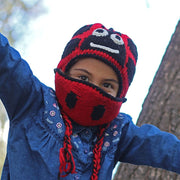Kids Hand-knit Hat with Face Mask Set - Labybug lifestyle