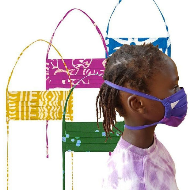 Organic Cotton Reusable 2-Ply Kids Face Mask side view