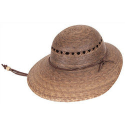 Laurel Lattice Palm Leaf Hat angle view