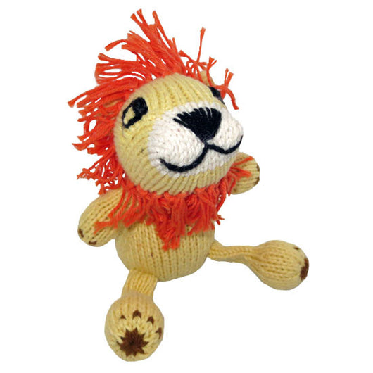 Hand-knit Lion Stuffed Animal Toy