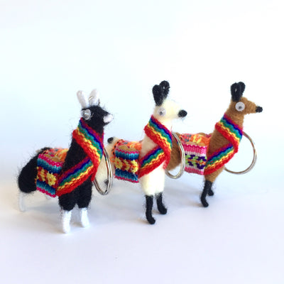 Llama Keychain-pack of three colors