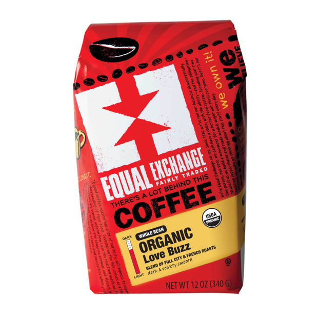 Equal Exchange Organic Love Buzz Coffee 12 oz Whole Bean