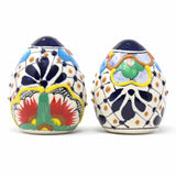 Hand-painted Dots and Flowers Ceramic Salt & Pepper Shakers