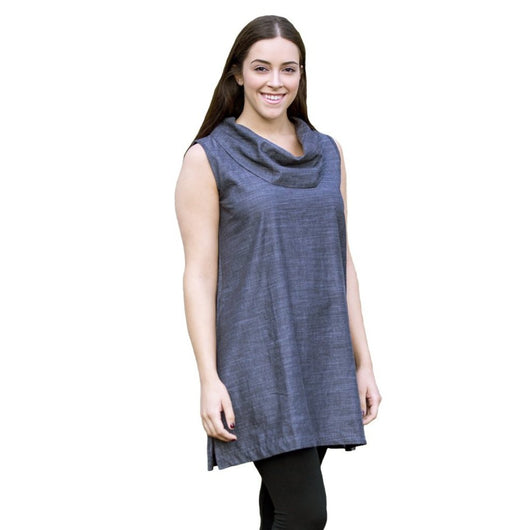 Organic Cotton Cowl Tunic MODEL1 by Maggies Organics
