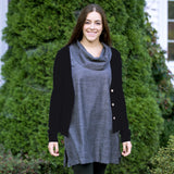 Organic Cotton Cowl Tunic MODEL2 by Maggies Organics