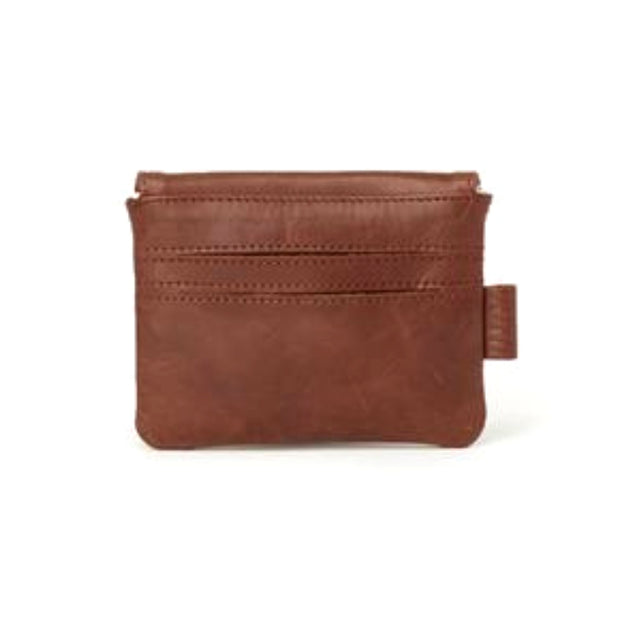 Mahi Brown Leather Mini Slim Wallet backview