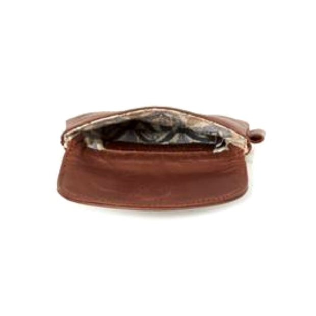 Mahi Brown Leather Mini Slim Wallet interior