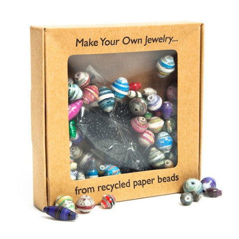 Make Your Own Recycled Paper Jewelry Kit