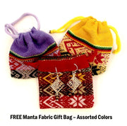 FREE Manta Gift Bag with purchase of Sterling Silver earrings