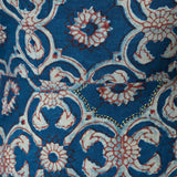 Mata Traders Marseille Hand Block Printed Dress Red Blue FABRIC DETAIL